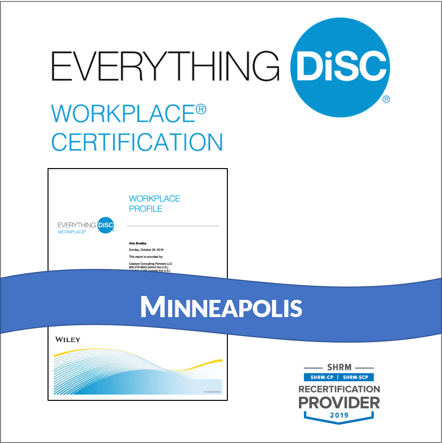 Everything DiSC Workplace® Certification: IN-PERSON CLASS in Minneapolis,  with Facilitation Kit